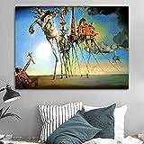 yaoxingfu Rahmenlose Salvador Dalí Leinwand ng Abstrakte Kunst Pferd, Elefant Klassische Wandkunst Bilder Für Wohnzimmer Wohnkultur Druck Ungerahmt 50x70 cm