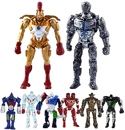 8Pcs/Set 5.5inches Action Figures Toys Real Steel Atom Movie Zeus Twin Cities Midas Doll Model Anime Robot Model Toys Children Gift