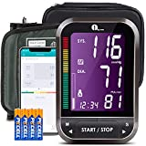 1byone Bluetooth Blood Pressure Monitor with Cuff for Home Use, Digital BP Monitor Upper Arm Pressure Machine, 4.7 inch Display, Cloud Storage(Note:Adatper Not Included))