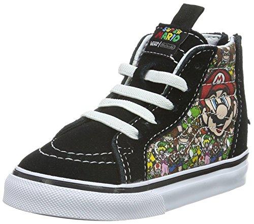 Vans Unisex Baby Sk8-hi Zip Sneaker, Mehrfarbig ((Nintendo) Mario & Luigi/True White), 21 EU
