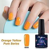 Frenshion 10ML Gel Nail Polish Empapa del UV Nail Polish Nail Art Naranja Amarillo 008