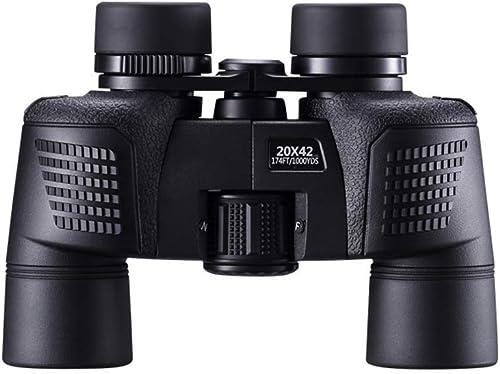 HJBH Télescope Jumelles 20x42 HD Vision Nocturne Haute Puissance Non-Perspective Imperméable étanche Anti-buée Miroir extérieur pour Oiseaux