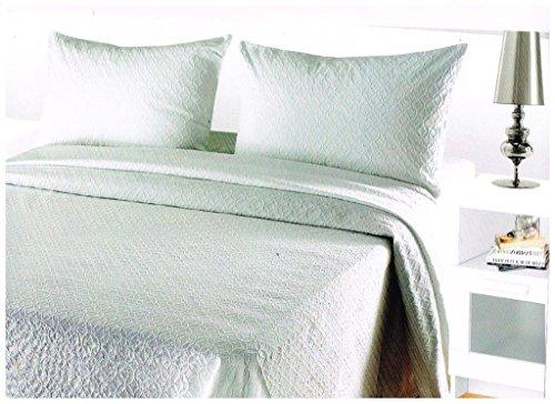 Algodonea Colcha Fina Blanca fácil Lavado. Mod. Vitoria. Varias Medidas. 170x270(Cama de 90 cm)