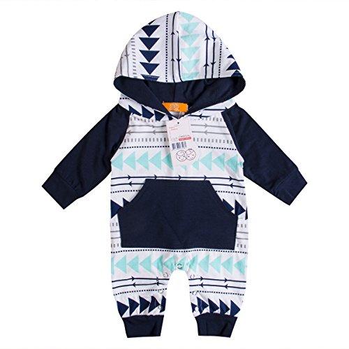 Emmababy Baby Boys Girls Jumpsuit Hoodie Romper Outfit Long Sleeve Creepers Bodysuit...