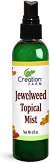 Creation Farm Jewelweed Spray 4 oz - Poison Ivy Itch Relief, Remedy Soothes Itchy Poison Oak, Allergy Rash, Bug Bites, Bee...