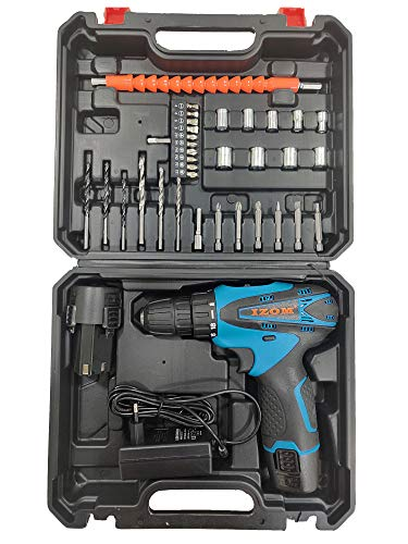 IZOM 12v Cordless Drill Set(Set of 38 in Blow Mould Case)