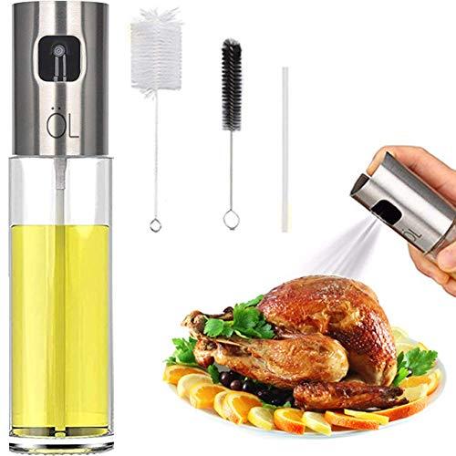 Oil Spritzer Mister for Air Fryer Olive Oil Sprayer for Cooking Canola Vinegar Vegetable Oil Portable Bottle Mini Kitchen Gadgets for BBQ/Pan/Salads/Baking