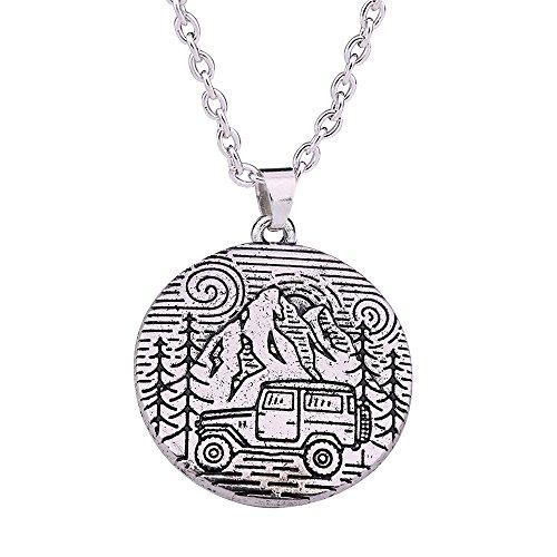 Skyrim Halskette mit Anhänger, klassisch, romantisch, natürliche Berglandschaft