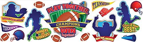 Eureka Classroom Supplies Football Fun Bulletin Board Set, 22 pcs
