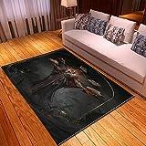LGXINGLIyidian Casa Tappeto Creative Dark Demon Skull Series Tappeto Morbido Antiscivolo per La Decorazione della Casa con Stampa 3D T-1750K 140X200Cm