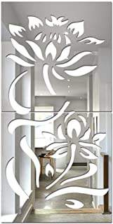 Dolloress 3D Diy Flowers Floral Wall Sticker Acrylic Wall Art Decals for Students Dorm Room Home Kitchen Decor Gift[Home D...