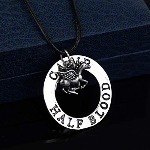 DYKJ Fly Horse Necklace Leather Rope Vintage Silver Pendant Fashion Jewelry Accessories