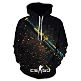 BMNZGM Cool CS Go Gamer Sweatshirt Counter Strike Global Offensive Csgo Hombres Sudadera con Capucha Ropa Divertida Sudadera con Capucha con Estampado 3D-We-1182_Size_L