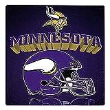 NFL Minnesota Vikings Gridiron Fleece Throw, Purple, 50' x 60'