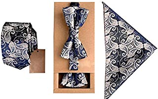 Neck Ties Suit for Mens with Neckties + Handkerchief + Bow Tie Set Pocket Square Towel Bowtie Wedding Party
