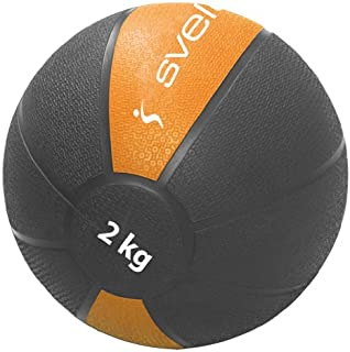 Orange//Noir 4 kg Pure2Improve P2I110080 Ballon dexercice avec Corde Mixte Adulte