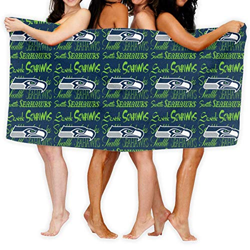 CSD Pillow case Custom Colourful Women's Beach Towel Seattle Seahawks American Football Team Bathroom Body Shower Soft Quick Drying Adult Bath Towel 31x51 Inches