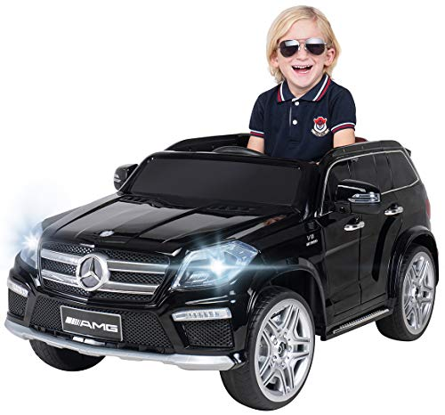 Actionbikes Motors Kinder Elektroauto Mercedes Benz GL63 AMG Original Lizenz Kinderauto Kinderfahrzeug Elektro Auto Spielzeug Für Kinder (Schwarz)