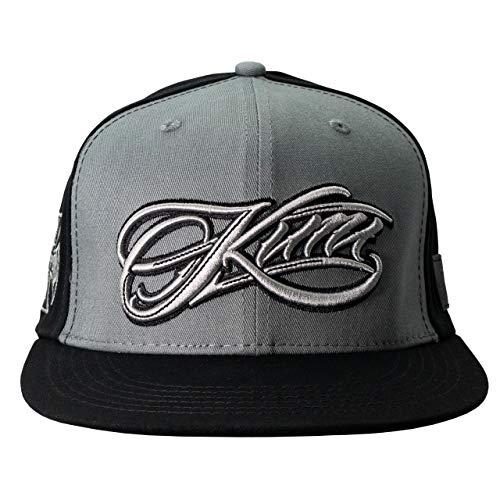 WEST COAST CHOPPERS Kimi Script Logo Snapback Flatbill Hat Grey