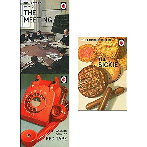 Price comparison product image Ladybirds For Grown-Ups Collection 3 Books Set (Ladybird Book Of The Meeting,  Ladybird Red Tape,  Sickie)