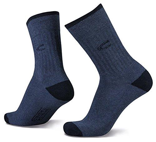 camel active 2er Pack Sport Socks 6510 indigo melange dunkelblau Strumpf blau Socken Doppelpack, Größe:43-46
