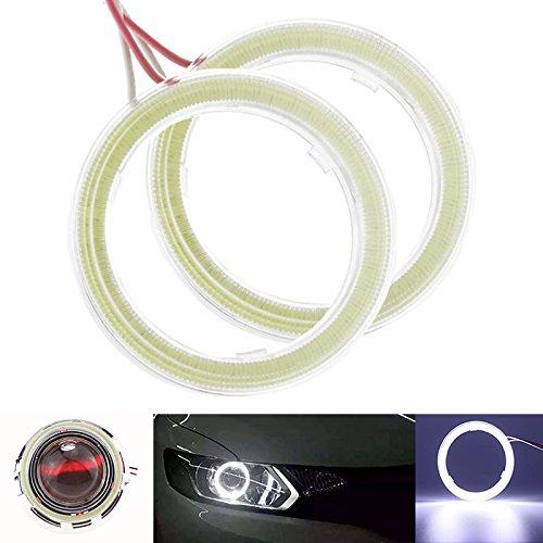 Taben Anello LED COB 45SMD luminoso, diametro 60 mm, luce bianca 6500K, Lampada per fari Angel Eyes, tensione DC12V (1 coppia)