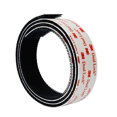 3M Klettband Selbstklebend SJ 3550 Dual Lock Extra Stark Flexibler Druckverschluss (25,4mm x 1m)