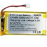 Sustitución de la batería de polímero de Iones de Litio DC 3,7 V 3000mah 103665 para DIY Storage LED Lamp Fan Handheld Bluetooth Speaker
