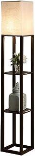 -Lampe de solon LED Lampadaire avec des ports USB - Tablettes Décoration Maison moderne de stockage permanent Lampe Lampad...