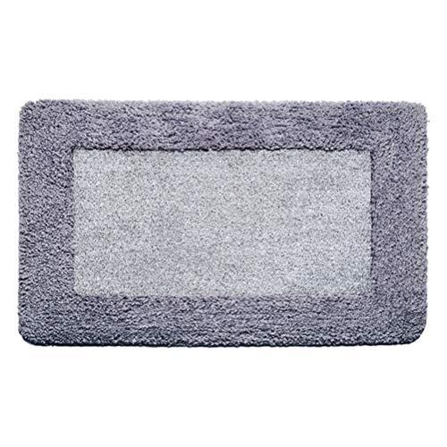 JIARUN Alfombrillas de baño, Pisos de Cocina de Pieles de Alta y Baja, alfombras de baño Antideslizantes absorbentes, alfombras Super Suaves (Gris),50x80cm