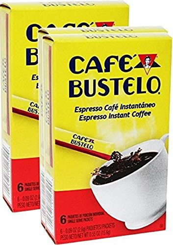 Bustelo Instant Coffee 6 Single Serve Packets. Pack of 2
