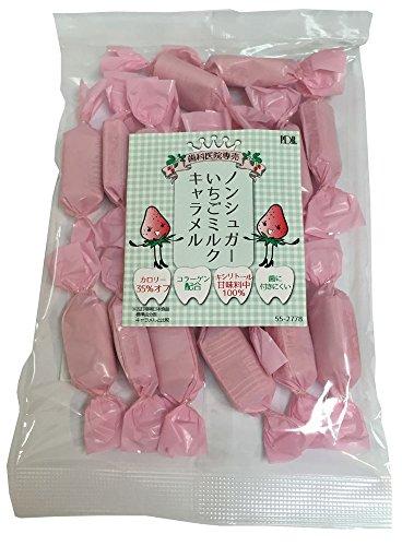 P.D.R. ノンシュガー いちごミルクキャラメル 100g (約17粒) 歯科医院専売 (1袋)