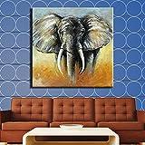 N / A Impression Murale Moderne sur Toile pour la décoration intérieure Salon Peinture Animale éléphant d'Afrique Peinture sur Toile (Impression sans Cadre) D 60x90CM