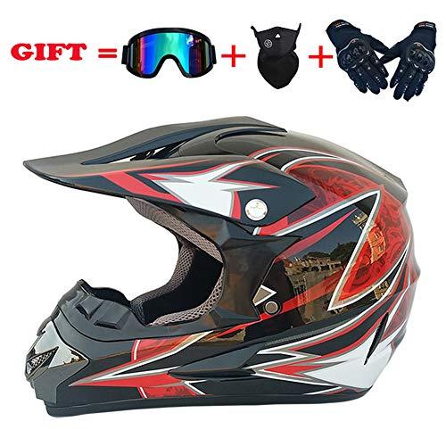 NJYBF - Casco de motocross para niños, para bicicleta de montaña, para carreras, carreras, deportes, para descenso, adultos, niños, unisex