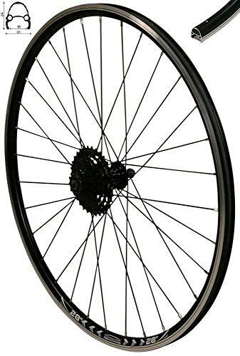 Redondo 28 Zoll Hinterrad Laufrad Felge Schwarz + 7 Fach Shimano Kassette