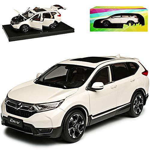 Paudi Hon-da CR-V SUV Weiss 5. Generation Ab 2018 1/18 Modell Auto mit individiuellem Wunschkennzeichen
