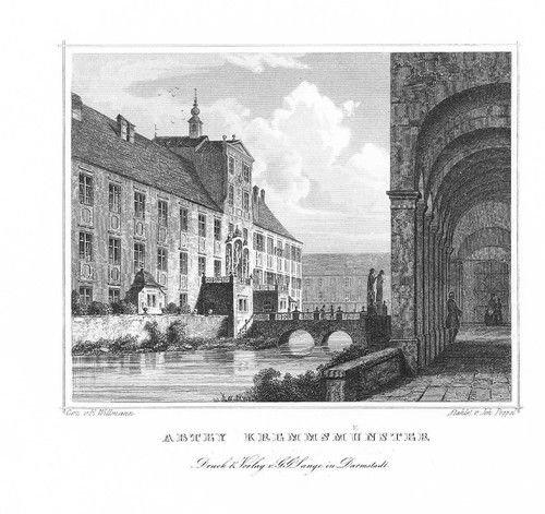Stift Kremsmünster Oberösterreich Stahlstich engraving