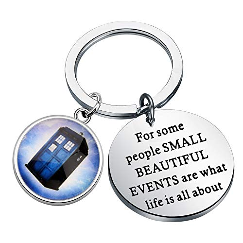FOTAPP DoctorWho jewelry For Some People Small Beautiful Events Are What Life Is All About keychain BoyfriendGift DoctorWhoTARDISGift DrWho Fans Gift (Doctor-who key)