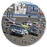Reloj de pared Sugar Vine Art de 10,5 pulgadas Speedy NASCAR Racing – Reloj de pared grande de 10,5 pulgadas – Reloj de decoración del hogar – 3453