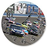 26,7cm Speedy NASCAR Racing–Coche Racing Ventilador Reloj de 26,7cm–Reloj de pared Home Décor grande–3453–Reloj