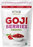 Viva Naturals Organic Dried Goji Berries, 1lb - Premium Himalayan Berries Perfect for Baki...