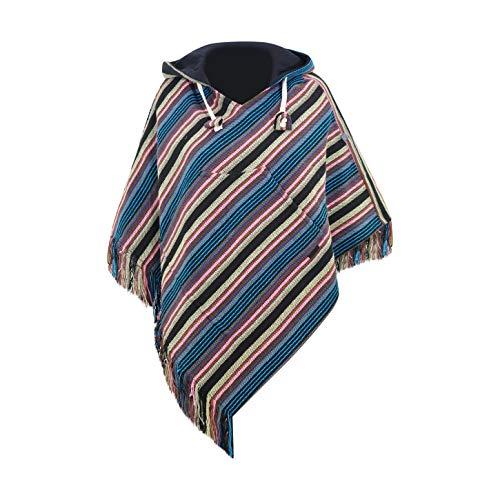 virblatt - Poncho Damen Pullover Ethno Baja Sommer Hippie Kleidung Jacke Alternative - Relaxed bl sm