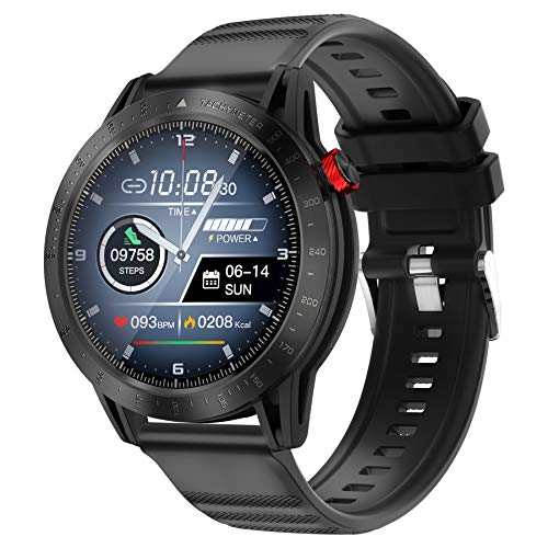 Smart Watch Fitness Tracker with Blood Pressure Heart Rate Sleep Monitor Multisport GPS Running Watch for Man, Smartwatch for Android iOS Phone Full-Screen Touch IP68 Waterproof Watch
