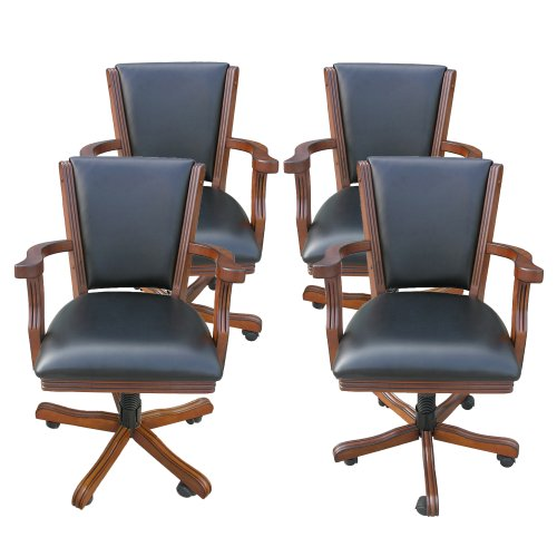 New Hathaway Poker Table Arm Chair (Set of 4), Walnut