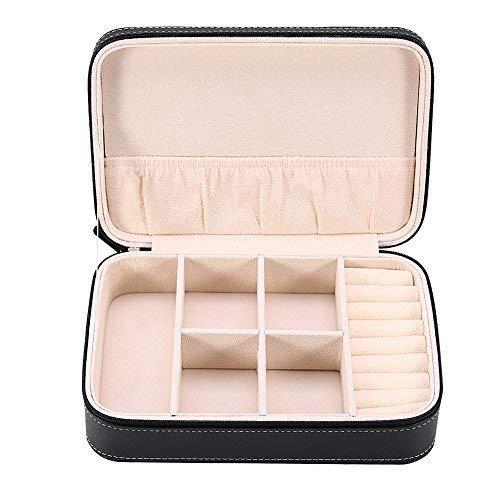 Z-SEAT Caja de joyería Organizador Cremallera Soporte Caja de Almacenamiento de Joyas...