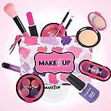 equival Girls - Juego de Maquillaje para niñas, cumpleaños, Maquillaje con Purpurina para niñas, Juguetes Lavables, simulación de cosméticos para niños, Juego de Princesa, 9 Piezas sorprendentes