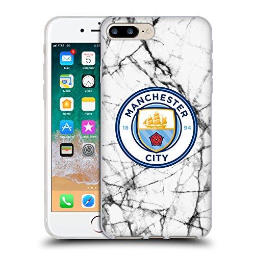 Head Case Designs Oficial Manchester City Man City FC Color Completo. Insignia de mármol Carcasa de Gel de Silicona Compatible con Apple iPhone 7 Plus/iPhone 8 Plus