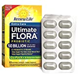 ReNew Life, Ultimate Flora Probiotic Extra Care 50 Billion Go Pack, 60 Count