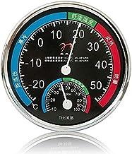 Termómetro Higrómetro Termómetro higrómetro hogar industrial interior temperatura humedad medidor precisión invernadero de pared montado en la pared Digital Termohigrómetro ( Color : Black )