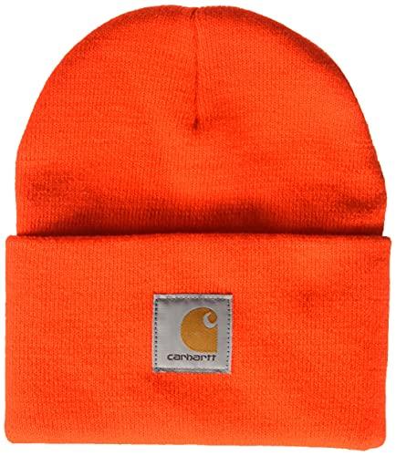 Carhartt Men's Knit Cuffed Beanie, Bright Orange, One Size